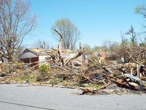 Tornado Damage in Greensboro