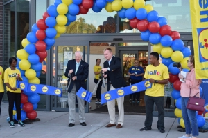 Ribbon cutting ceremony for the new Lidl grocery store in Rockingham. Steve Morris, mayor of Rockingham and Lidl corporate staff participated in the ceremony.