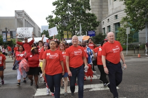Mark Jewell, N.C. Association of Educators president, led teachers during the May 2018 walkout in Raleigh.