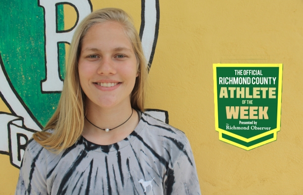 Sophomore Kelly Hoffman has been named the Official Richmond County Female Athlete of the Week.