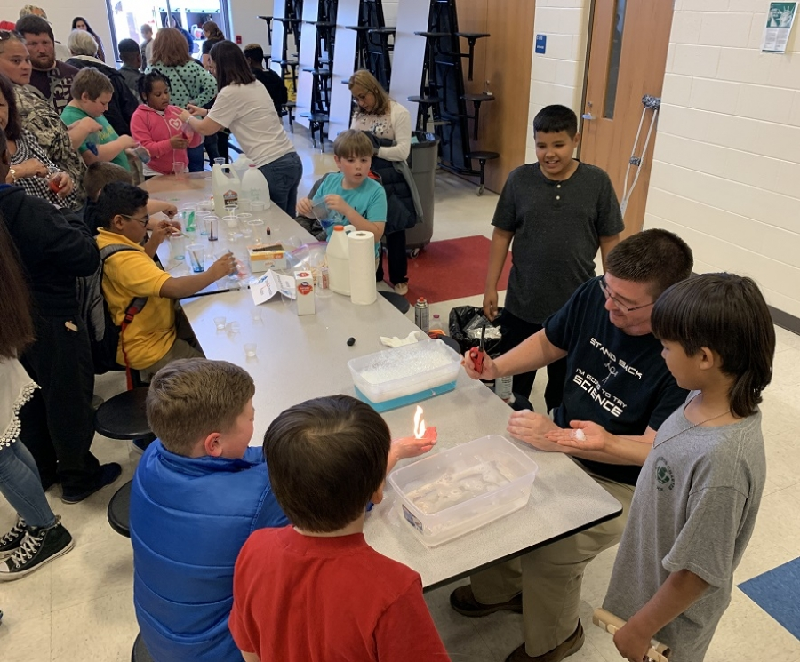 Students at East Rockingham Elementary were introduced to a variety of high-tech gadgets during a science festival last Thursday.