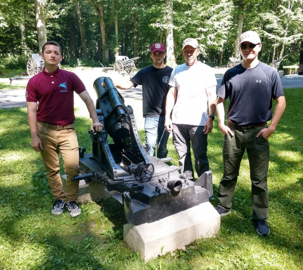 Raiders in Belleau Wood — site of famous battle by U.S. Marines attached to the 2nd U.S. Army Division.