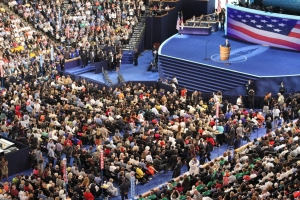 The scene from the 2012 Democratic Nominating Convention in Charlotte.