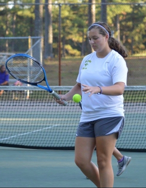 Richmond Observer File Photo: Junior Emily Parsons was one of six Lady Raiders unable to defeat her Sanderson opponent.