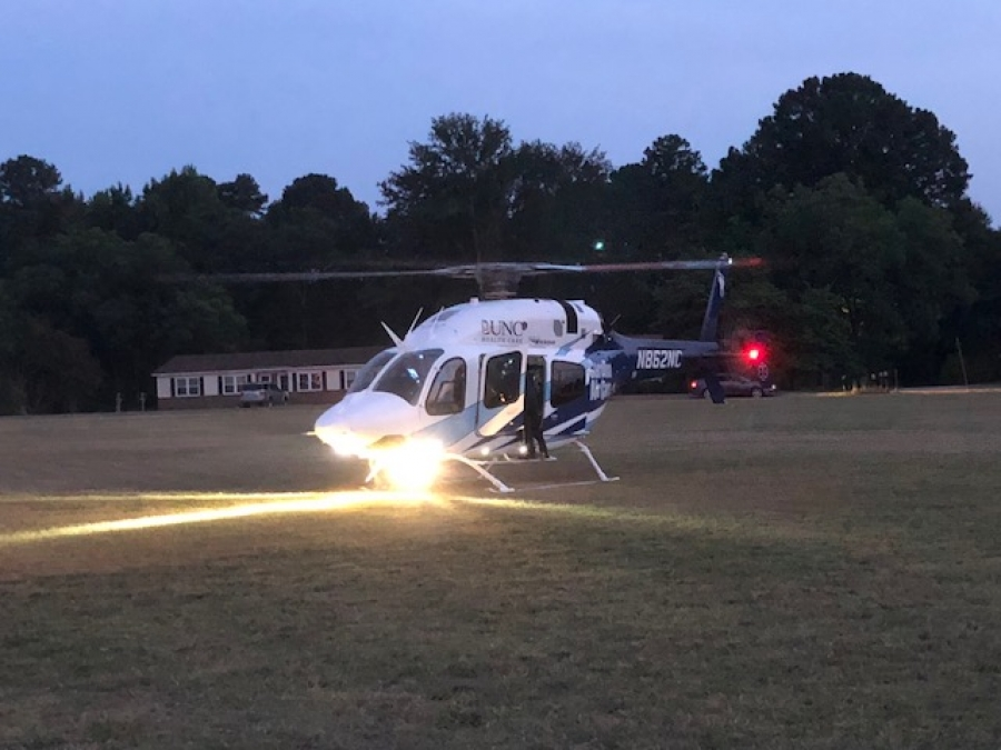 Motorcycle Rider Air-Lifted to Hospital