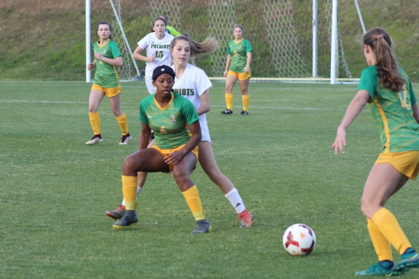 ROSports File Photo: Senior Jayana Nicholson (4) scored Richmond's lone goal in Friday's SAC tournament title game loss.