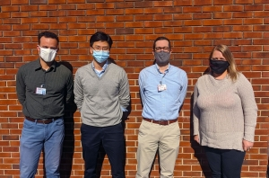 Pictured are the art instructors of Richmond Community College, from left, Marcus Dunn, Junghoon Han, Andrew Prieto and Morgan Idol. They are masked up and ready to bring in new students this spring semester to their art classes.