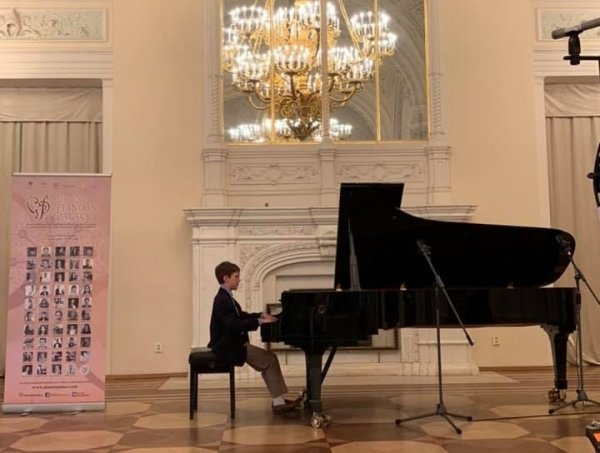 John Patrick Hutchinson performs in the International Piano in the Palace Festival in St. Petersburg, Russia.
