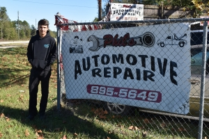 Jeremy McDonald interned at the auto shop opened by his grandfather.