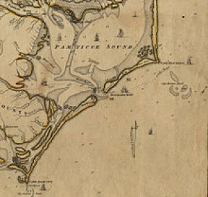 Period Map of Ocracoke Inlet
