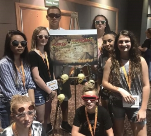 Team members Addison Massey, Cash Monroe, Yesenia Garcia, Tyson Holloway, Lily Wilson, Catherine Dennis, Sophia Razon and Bobbie Faircloth won first in the Rapid Response Challenge
