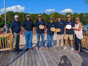Southern Builders took home the first place trophy for the 4th Annual Classic Clay Shoot and Flurry Tournament hosted by Richmond Community College's Foundation. Second place went to the team from White Rabbit Catering and third place to the team from Richmond County Economic Development. Not all team members are pictured.