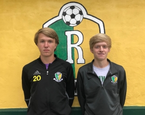 Evan Hudson (left) and Patrick Hamilton (right) were the only two Raiders to make the 2017 All-SAC team.