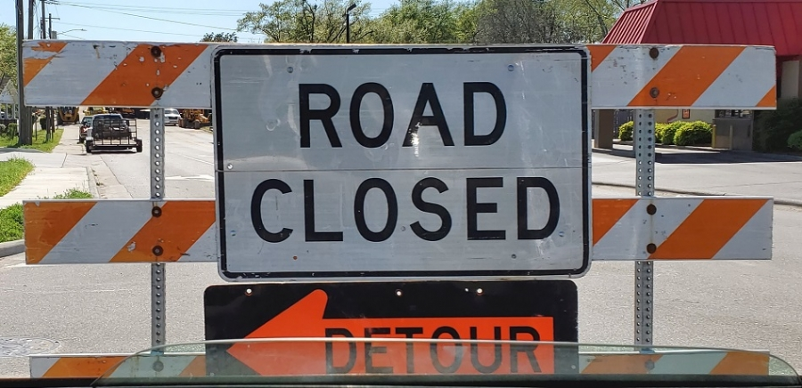N.C. 177 remained closed Wednesday afternoon after being blocked off Monday morning for repairs to a sewer line.
