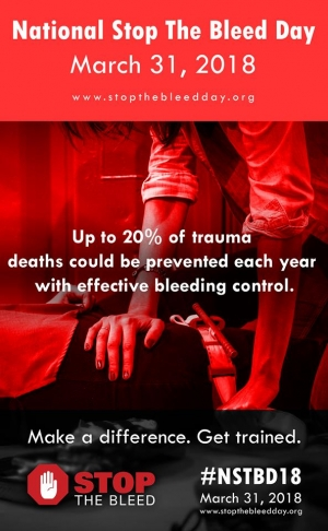 "National ""Stop the Bleed"" Day March 31st"