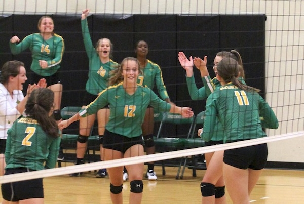 ROSports File Photo: Madison Jordan (12) had a team-high 18 digs in Richmond's win on Tuesday.