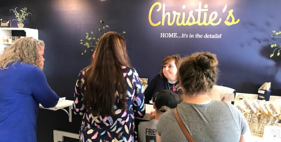 Christie's Home, Garden, Gifts Cuts Ribbon and Offers Exclusive Experience for Customers