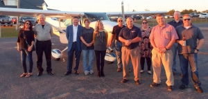 "Several attendees got to fly in a plane as a part of the ""appreciation"" event Thursday."