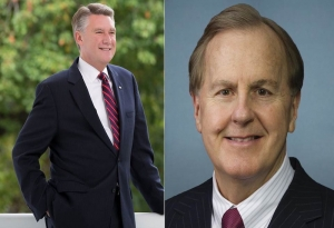 "Dr. Mark Harris (left) and Robert Pittenger (right) face the possibility of the 9th Congressional District being redrawn due to ""unconstitutional gerrymandering."""