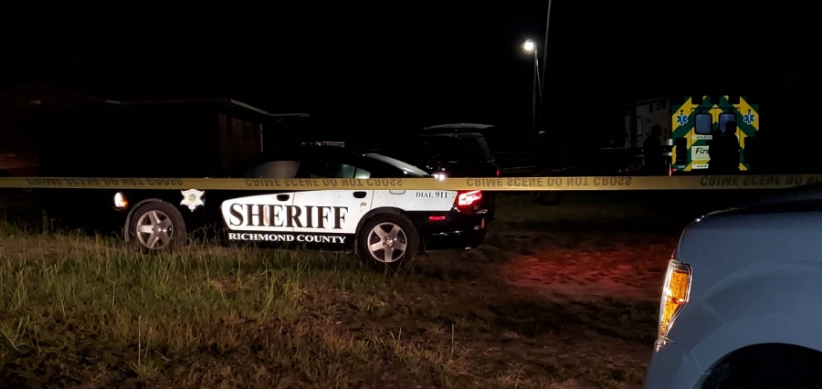 The Richmond County Sheriff's Office conducts a homicide investigation in Hoffman late Tuesday night.