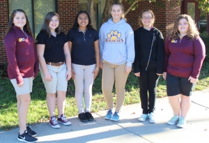 2017-2018 EMS Student Government Officers: Natalie Meacham, Caroline Hunsucker, Jocelyn Mercado, Jamie Sears, Marissa Sweet and Gracie Mabe.