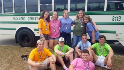 SkillsUSA members who attended the conference from Richmond Senior High School include Thomas Barbee, Tyler Bittle, Alexis Foushee, Monte Gilmore, Joseph McNeill, Samantha Oxendine, D'Anna Pitchford, Summer Powers, Camden Preslar and Rachel Wallace.