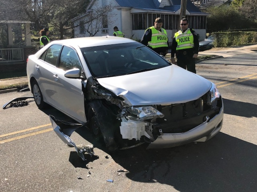 A spokesperson for the Police Department stated that when he arrived on the scene the driver said that she took her eyes off the road and struck the utility pole.
