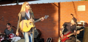 "Bucky Covington plays a show in Graham Saturday evening. It was the first concert since the pandemic hit last year. Also pictured, Rocky Covington on drums and Donald ""Ducky"" Medlock on bass."