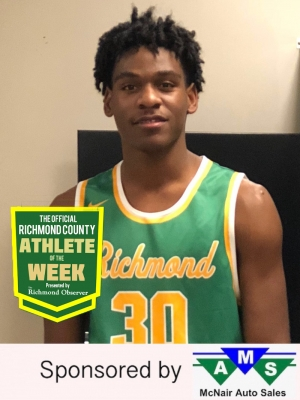 Junior power forward Xavier Pettigrew has been named the Official Richmond County Male Athlete of the Week.