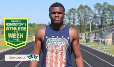 Senior sprinter Jaleen Baldwin has been named the Official Richmond County Male Athlete of the Week presented by McNair Auto Sales.