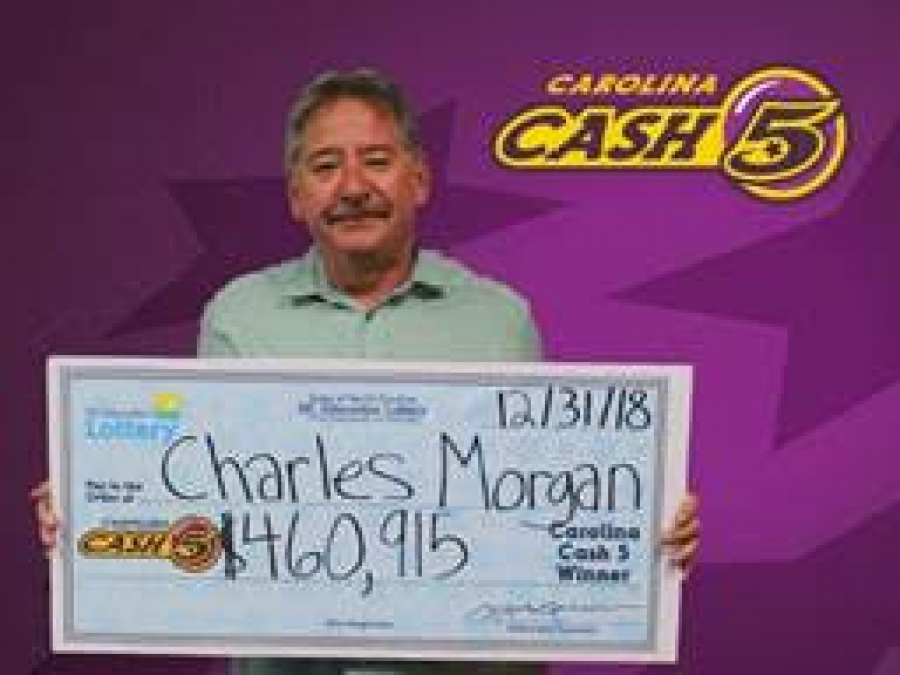 Charles Morgan of Laurel Hill recently won his second Cash 5 Jackpot and says he plans to use the money to pay for his upcoming wedding.