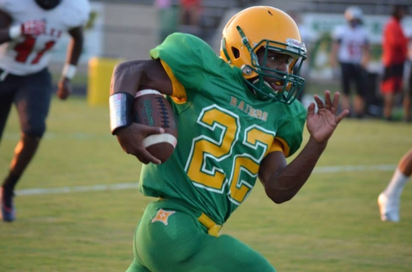 Jaron Coleman had two rushing touchdowns in Wednesday's win against Hoke County.