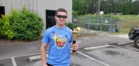 Zach Allen led the way for the annual Special Olympics Torch Run on Wednesday.