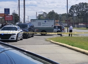 Investigators determined that a man shot a woman inside a gray SUV on Saturday on Maner Road, before pulling in and stopping at a gas station in Rockingham.