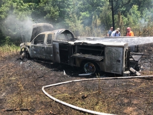 A truck belonging to the Richmond County Rescue Squad was found burned out in Anson County after it was stolen from the station sometime between 7 p.m. Saturday and 9 a.m. Sunday