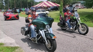 More than 90 bikes participated in a ride Sunday to benefit the Richmond County Rescue Squad.