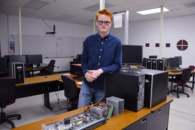 "Richmond Community College Information Technology graduate William ""Hunter"" O'Neal hopes to one day work for the federal government fighting cyber crimes."