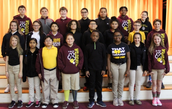 Sixth-graders, from left- Front row: Ally Russell, Leslie Reyes, Randall Ramirez, Kamryn Simmons, Joaquain Jackson, Mia Green, Mikayla English and Payton Powell. Second row: Sarah Meacham, Breanna Smith, Ayden Locklear, Dylan Santiago, Jason Perez Zapata, Ashly Gonzalez Aguilar, Jordan McCormick and Garret Mabe.  Third row: Alexander Bahneman, Gavin Applewhite, Chad Sauls, Jaden Oliver, Mariana Estrada, Symone Terry and Ava Thompson. Not pictured: Charlotte Morrison