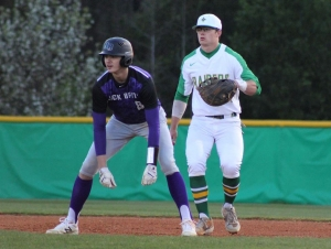 Cameron Caraway went 3-for-3 with a 2-run homer in Tuesday's win over Jack Britt.