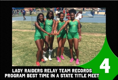 Top Sports Stories No. 4: Lady Raider 4x100 relay team records program best time at state championship