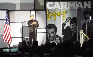 Gospel music singer Carman performs at Roberdel Baptist Church on Nov. 18.