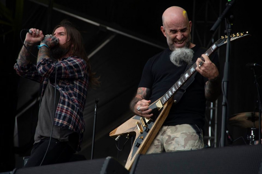 Guitarist Scott Ian, pictured performing at the inaugural Epicenter with the Damned Things, returns to the festival next year with thrash metal band Anthrax.