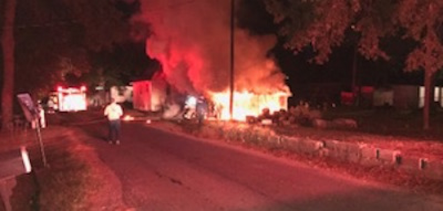 A garage caught fire in East Rockingham Monday night. No one was injured, and the incident is under investigation.