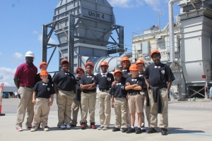 The Fairview Heights Elementary School's Bowtie for Boys Club toured the Duke Energy-Smith Energy Complex Monday morning.