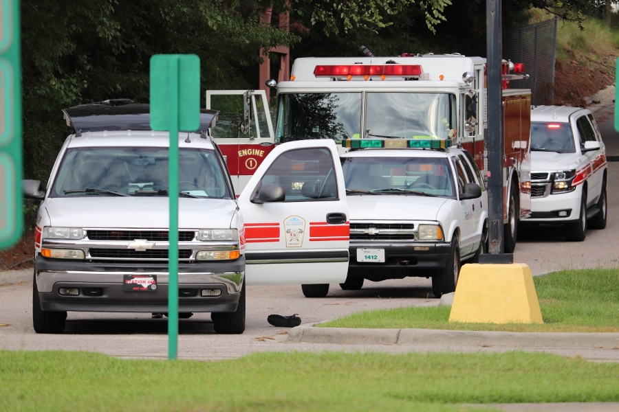 Crews arrived to call of kitchen fire at FirstHealth Moore Regional Hospital-Richmond Tuesday to find it had been put out by hospital staff.