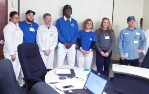 Pictured are the FCC employees who completed Lean Six Sigma Green Belt training provided through Richmond Community College: Diana Pierre, Joseph Crifasi, Jauan Petty, Chris Boone, Grete Majerle, Seth Newton, Joe Waters and Sendorial Revels.