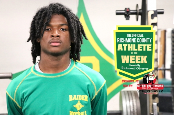 Jakolbe Baldwin has been named the Official Richmond County Male Athlete of the Week.