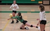 Senior libero Layne Maultsby records a dig during the third set of Tuesday's 3-0 win over Seventy-First.