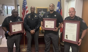 From left: Detective Brian Ingram, Sheriff James Clemmons, Detective Marcus Brown and Lt. Chris Bynum.