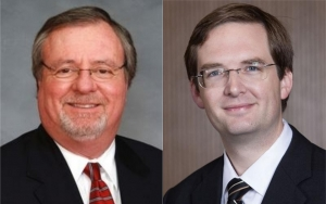 Tommy Tucker and Stacy Eggers were recently sworn into the N.C. State Board of Elections to replace to the two Republican board members who resigned.